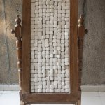 Wood and vibhuti (ash bricks), 72 x 32 x 22 inches, 2016