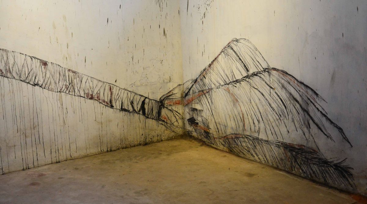 Drawing on wall in Cochi