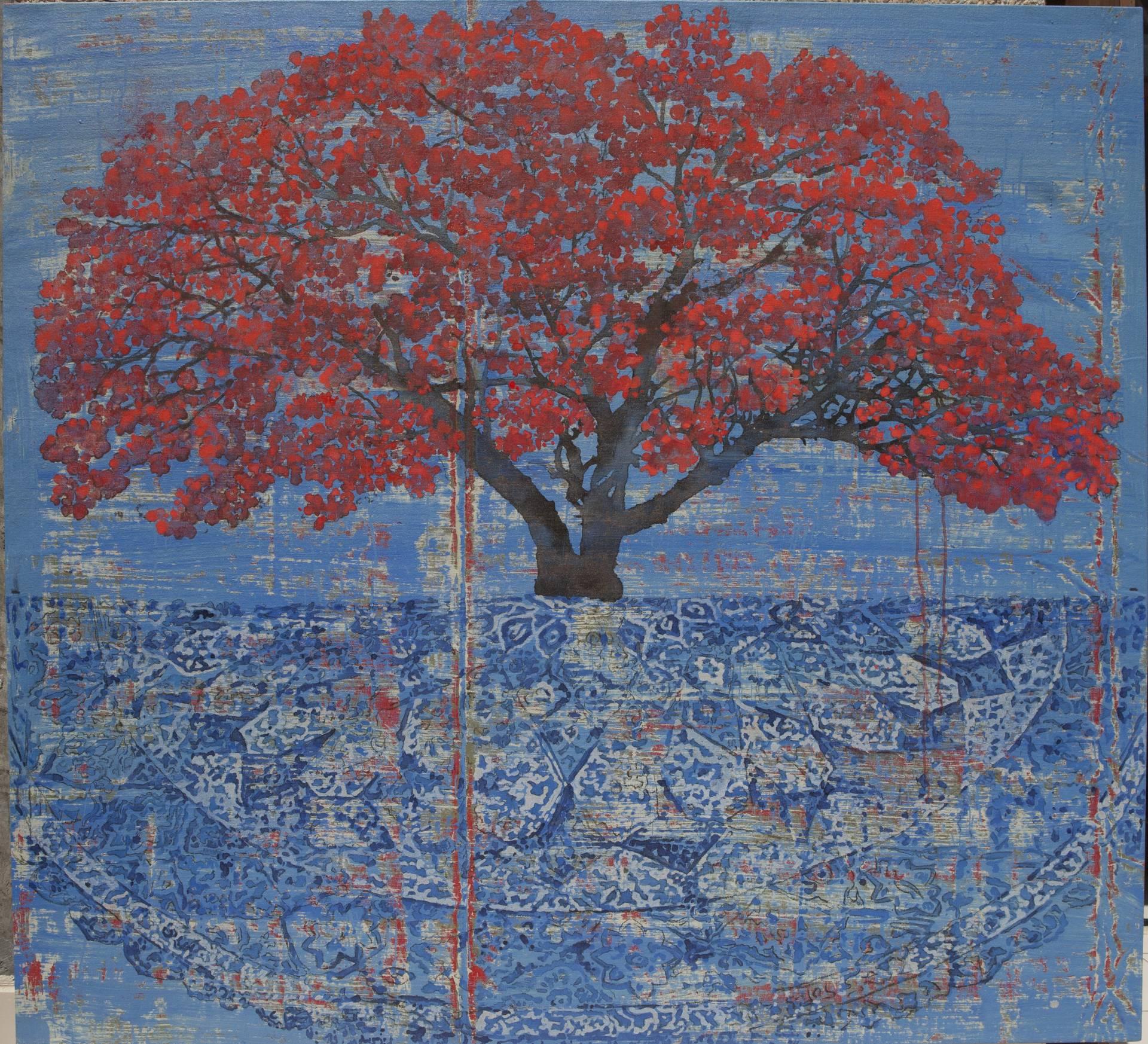 Tree on carpet